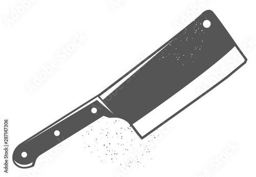 Photo Kitchen axe. Black illustration.