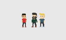 Pixel Male Character.8 Bit.
