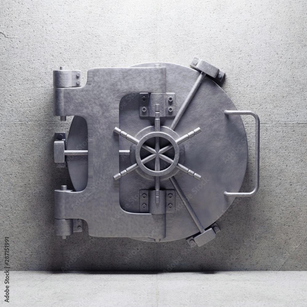 Fototapeta bank vault door. 3d render