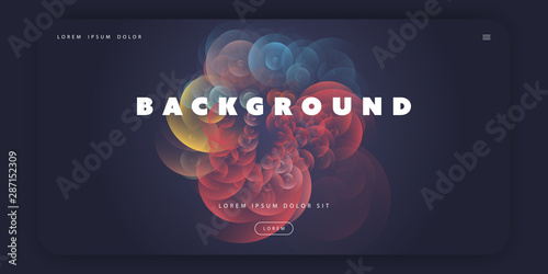 Abstract Colorful Minimal Geometric Pattern Background Template, Gradient Shapes Wallpaper Mural