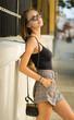 canvas print picture Gorgeous fashion brunette.