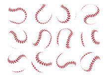 Baseball Ball Lace. Spherical ...
