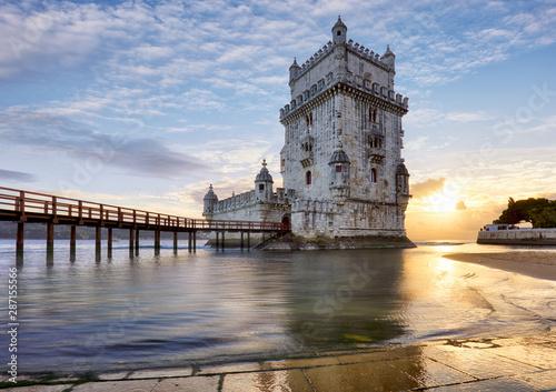 Photo sur Toile Les Textures Belem tower, Lisbon, Porugal