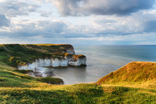 Chalk Cliffs At Selwick Bay On Flamborough Head