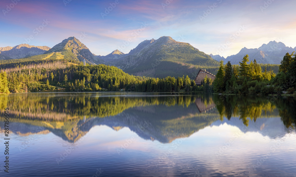 Fototapety, obrazy: Tatras green forest - Strbske pleso, Slovakia
