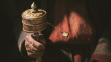 Spinning Brass Prayer Wheel I