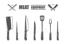 Meat Cutting Knives Set. Meat ...