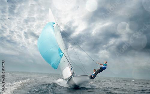 Sailing yacht race. Yachting. Sailing regatta. Obraz na płótnie