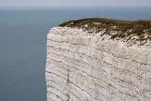 Beachy Head Cliff Face, The Cliff Is The Highest Chalk Sea Cliff In Britain And One Of The Most Common Suicide Spots In The World.