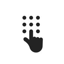 Black Hand Like Phone Dial