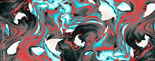 Abstract Abstact Marble texture. Can be used for background or wallpaper textile blue ,black ,red hd quality - 287170963