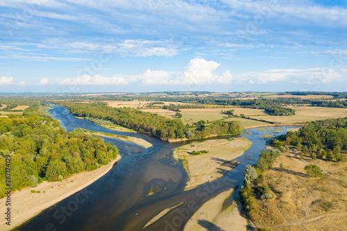 Photo Le bec d'Allier, la Loire et l'Allier se rejoignent à Nevers