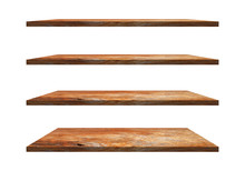 A Collection Of Brown Wooden S...