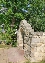 Stone Gate From Medieval Royal...