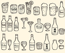 アルコール ドリンク...