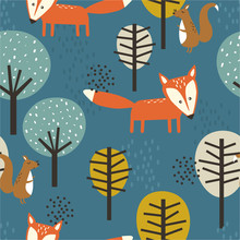 Foxes, Squirrels And Trees, Ha...