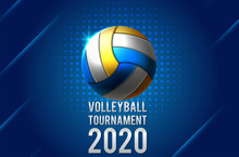 Colorful Volleyball Ball Icon. Vector Illustration