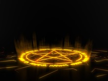 Summon Circle With Pentagram O...