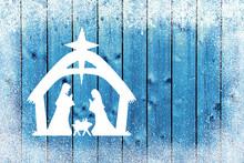 Blue Christmas Winter Backgrou...
