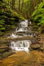 A Little Waterfall Along A Cre...