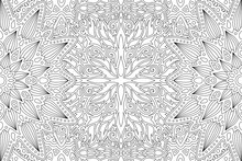 Monochrome Linear Abstract Art For Coloring Book