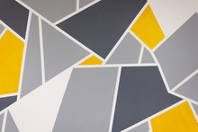 Yellow And Grey Abstract Textu...
