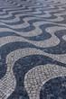 Cascais, Lisbon, Portugal - Black and White mosaic patterns in Cascais, Portugal