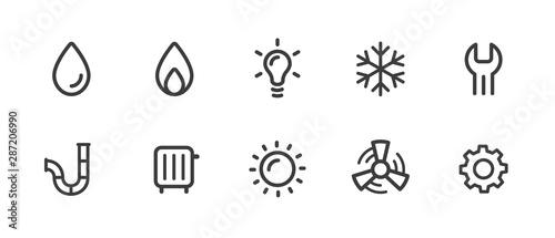 Fotomural Sanitär Symbole