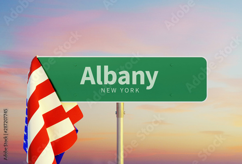 Albany – New York Tablou Canvas