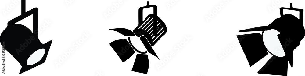 Fototapeta spotlight icon on white background