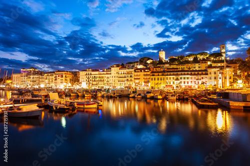 Fotobehang Nice Cannes aerial panoramic view, France