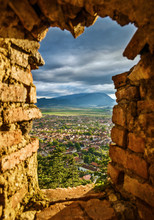 Landscape Of Rasnov Town And C...