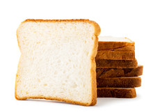 Stack Of Toast Bread On A White Background. Isolated
