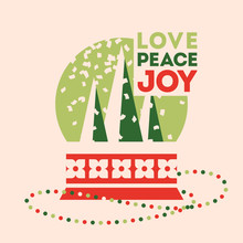 Retro Style Christmas Card Wit...