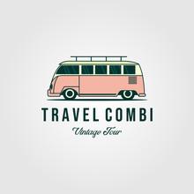 Combi Van Car Vintage Logo Des...