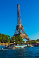 Beautiful Eiffel tower Paris landmark