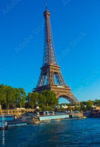 Beautiful Eiffel tower Paris landmark