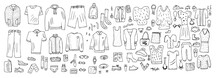 Set Of Clothes In Doodle Style...