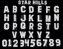 Star Hills Alphabet - 3D Illustration