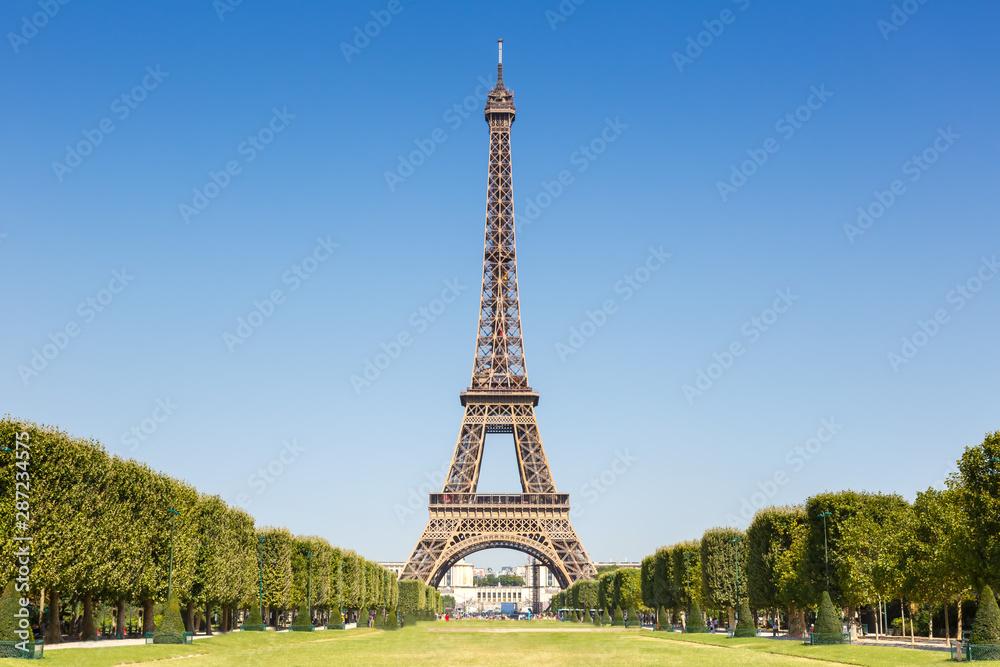 Eiffel tower Paris France copyspace copy space travel landmark