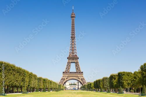 Fotografie, Obraz Eiffel tower Paris France copyspace copy space travel landmark