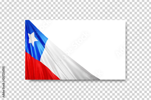 Fototapeta Vector Realistic Isolated Chile Flag Greeting Card For Independence Day For Template Decoration And Invitation Covering On The Transparent