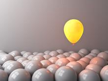 One Glowing Balloon Like Moon ...