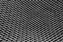 Hammock Rope Knitted Mesh Texture, Black And White Photo