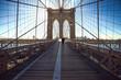 Unique design of stone & steel, the Brooklyn Bridge