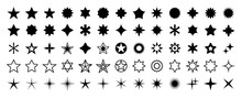 Stars Set Of 65 Black Icons. R...