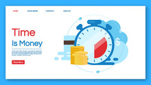Time Is Money Landing Page Vec...