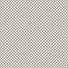 Vector Seamless Pattern, Black And White Geometric Texture Of Mesh, Net, Grid