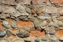 Muro Vintage In Mattoni E Pietre