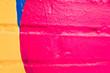 Leinwanddruck Bild - Colorful pattern painted on a wall.